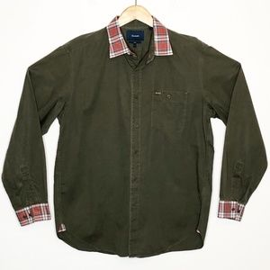 Faconnable | Button Up Shirt Olive Green Sz L